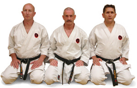 The three Bournemouth Karate Academy instructors